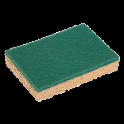 Eponge + tampon abrasif vert GM Spontex