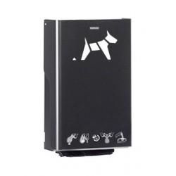Distributeur sacs pollution canine gris manganèse