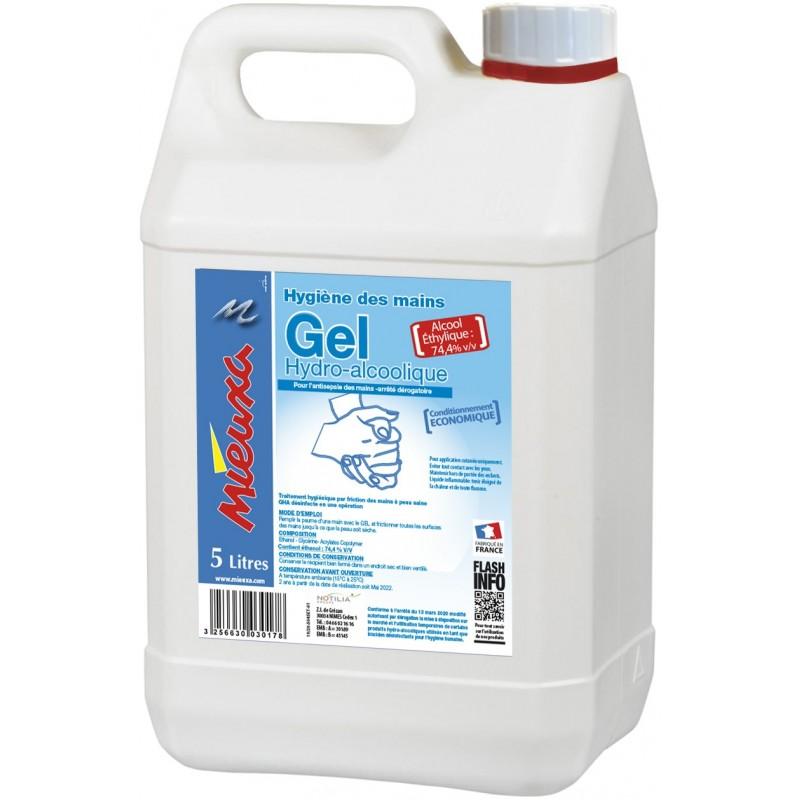 Gel mains décontaminant hydroalcoolique 5L