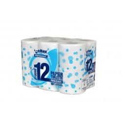 Papier hygiénique pt rouleau 200 Fts écolabel pure ouate 2P  (x96)