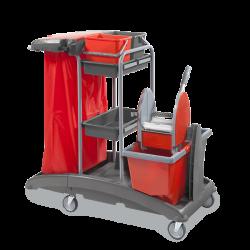 Chariot ménage-lavage plastique-rilsan Gm 2x15L Top 3