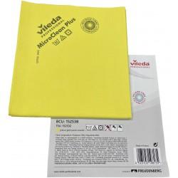 Microfibre non tissée MicroClean Plus jaune 40 x 45