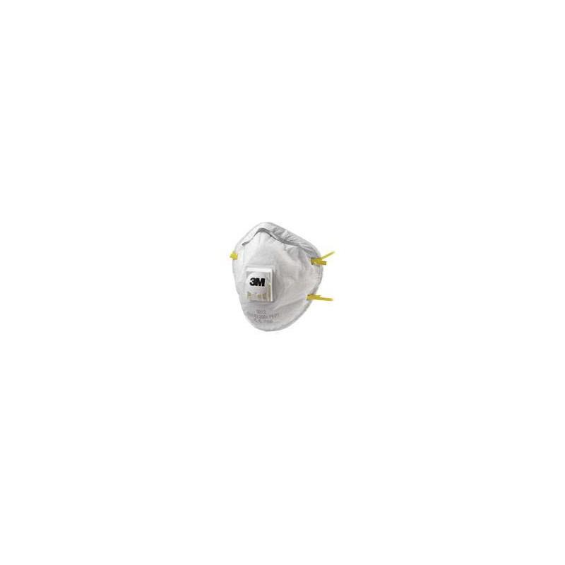 MASQUE ANTIPOUSSIERE CONFORT AVEC SOUPAPE USAGE UNIQUE FFP2 3M (x10)