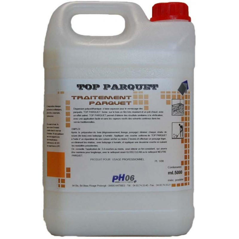 Top Parquet vitrification brillante parquet 5L