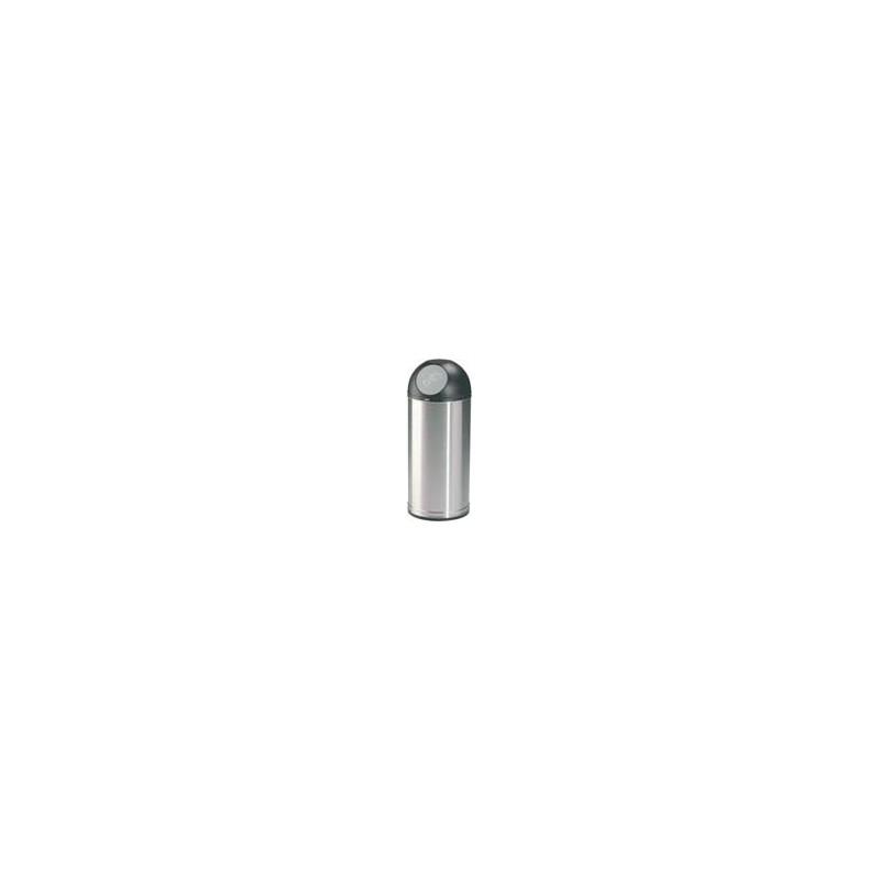 POUBELLE INTERIEUR RONDE ACIER COLLECNET INOX/NOIRE 52L