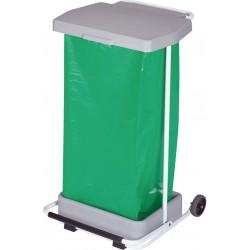 POUBELLE HACCP MOBILE A PEDALE COLLECPRO GRISE 110L