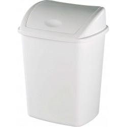 Poubelle couvercle basculant plastique blanc basic 15L