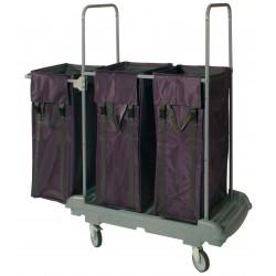 Chariot linge tri plastique-rilsan 3 sacs