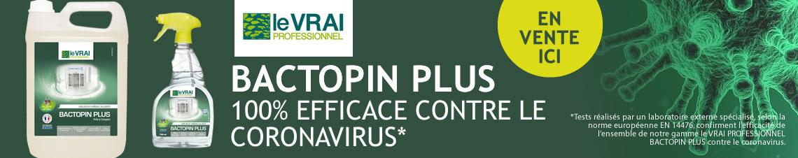 Bactopin Plus 100% contre le coronavirus